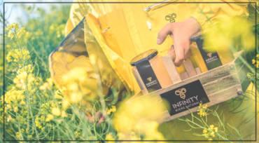Natürlicher honigkonsum