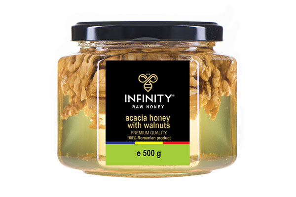 Acacia Honey with Nuts 500g