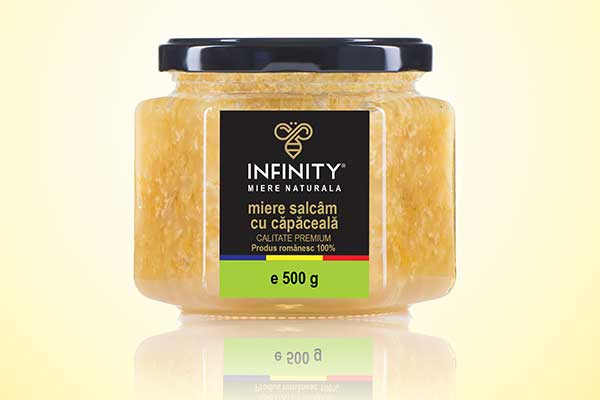 Acacia Honey with Caps 500g