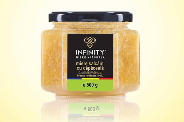 INFINITY HONEY - Miere naturala - miere salcam cu capaceala