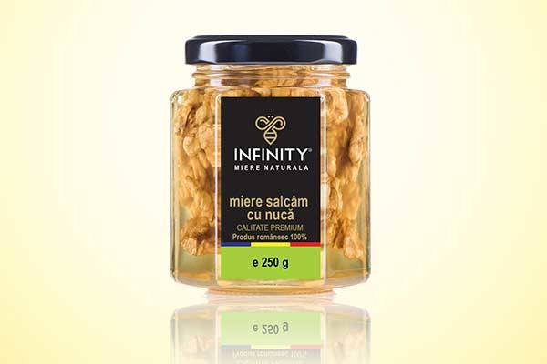 INFINITY HONEY - Miere naturala - miere salcam cu nuca